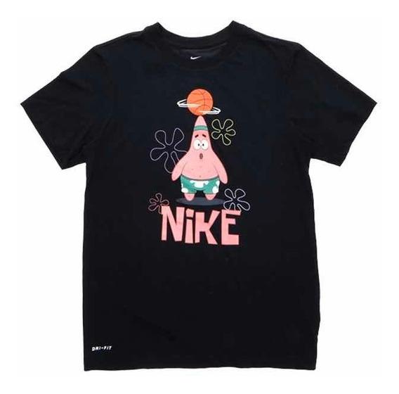 Playera Tshirt Kyrie Nike X Bob Esponja Patricio Negra Orig