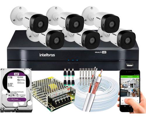 Kit Multi Hd 6 Cameras 1120b G5 720p 1mp Dvr 1108 1tb Purple