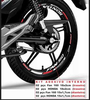 Kit Friso Refletivo Honda Fan 160 150 125 + Adesivo Interno