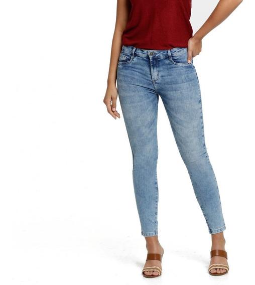 Calça Feminina Jeans Skinny Marmorizada Marisa