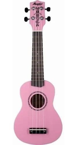 Imagem 1 de 5 de Ukulele Soprano Memphis By Tagima Honu Flamingo Pink