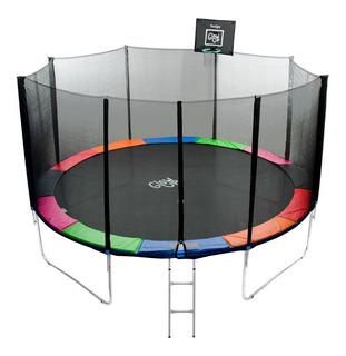Cama Elástica Con Malla Y Set Basketball Glowup 4,27m R3060