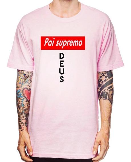 Camiseta Supremo Pai Jesus Cristo Religião Deus Amor Fé