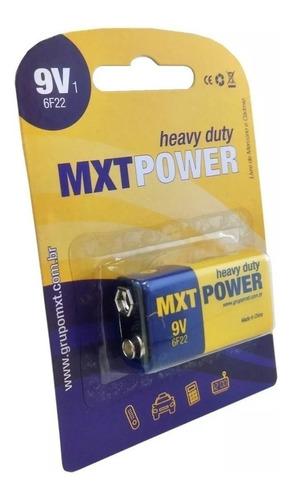 Imagem 1 de 3 de Bateria 9v Mxt Heavy Duty 1 Unidade Power 6f22 Violão Baixo