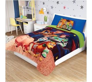 Cobertor Matrimonial Providencia Toy Story 4 Con Borrega