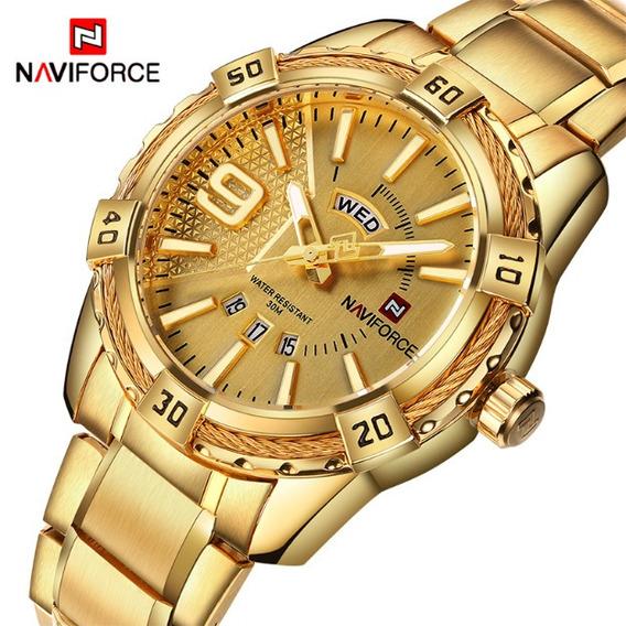 Relógio Masculino Dourado Importado