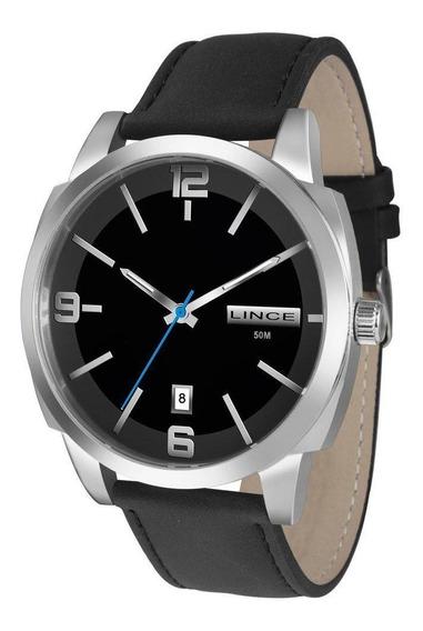 Relógio Masculino Lince Analógico Mrc4388s P2px Couro