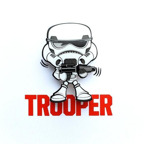 Mini Luminária 3d Light Fx Star Wars Stormtrooper