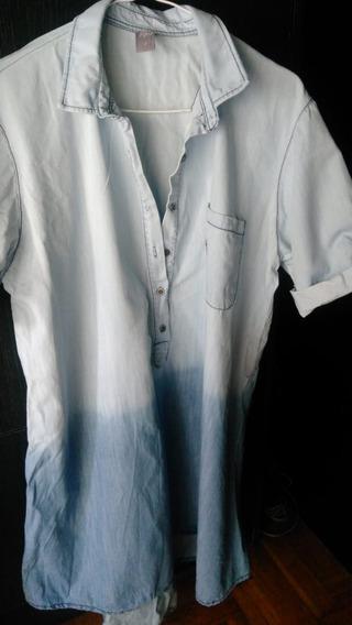 Hermosa Camisa Vestido De Jean Venga Madre Tm