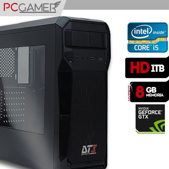 Computador Gamer Axtro Intel Core I5 7400 8gb Gtx1050ti 1tb