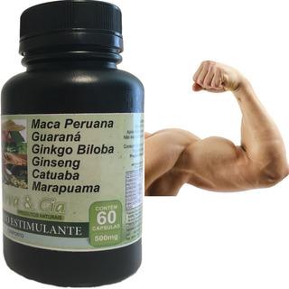 Composto Natural Capsulas Guaraná Ginseng Ginkgo Biloba Maca