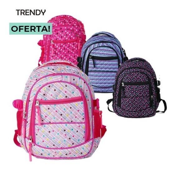 Mochila Mini Estampada Trendy Local 8208 Colores Cuotas!