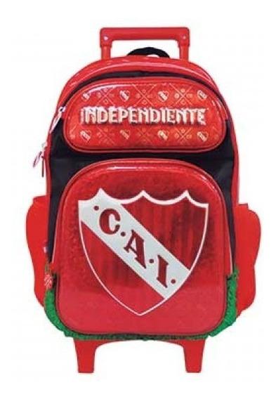 Mochila Independiente Carro 18p Futbol Mundo Moda Frv