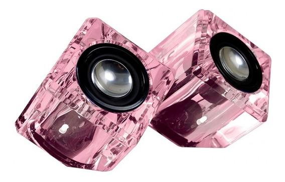 Alto Falantes Compactos Crystal Ice Formato Cubo Dgun-2527