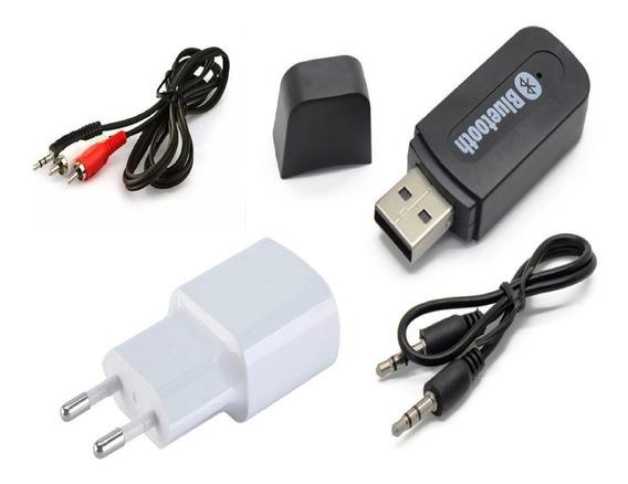 Receptor Bluetooth Áudio P2 Usb Cabo P2+2rca Televisão Tvs