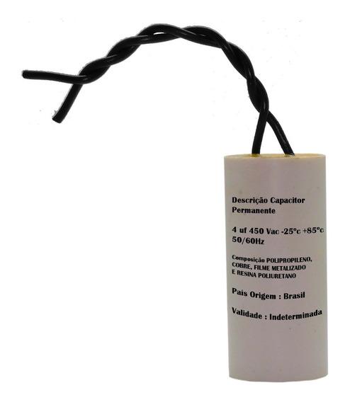 Capacitor Ventilador Teto/parede/chao 2fios 4uf 10% 450vac