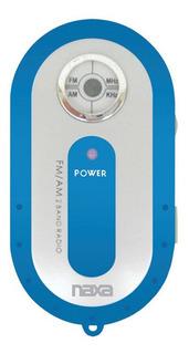 Mini Radio Am- Fm De Bolsillo Naxa Nr720 Azul