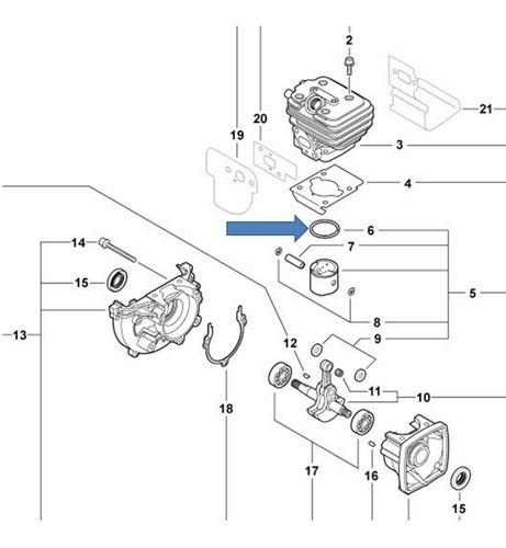 Imagen 1 de 2 de Repuesto Soplador Echo Pb-252 Aro + Kit De Diafragmas