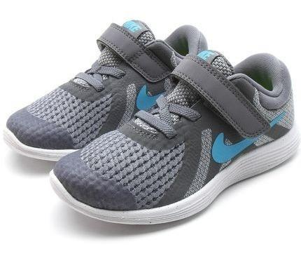 Tênis Nike Menino Revolution 4 Tdv Cinza Infantil Original