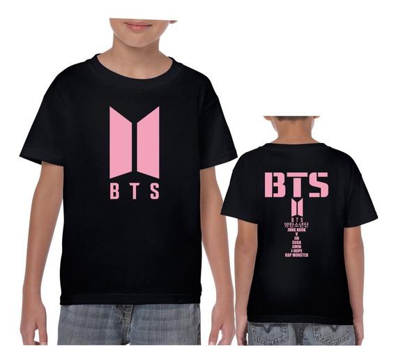 Playera Bts Logo Jung Kook Grupo K-pop Music