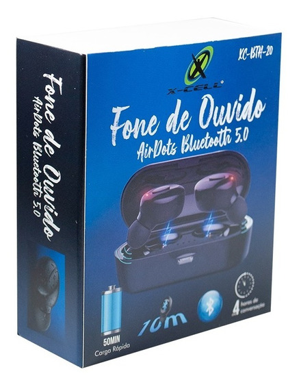 Fone De Ouvido Airdots Bluetooth 5.0 Xcell Xc-bth-20