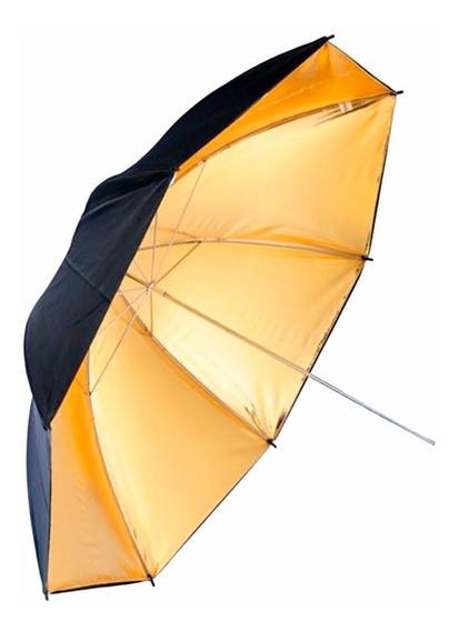 Sombrinha Rebatedora Dourada 96cm