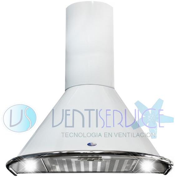 Campana De Cocina 2 Luces Led Circular 60 Cm Sin Motor