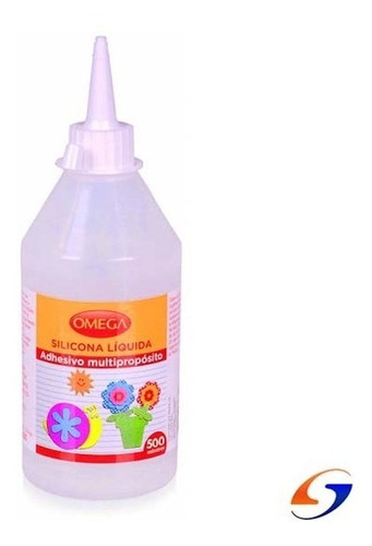 Adhesivo Silicona Liquida  Omega 500ml. Serviciopapelero