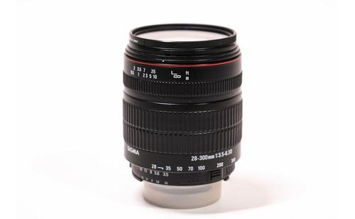 Lente Super-zoom Sigma 28-300mm Dg Af F/3.5-6.3 P/ Nikon