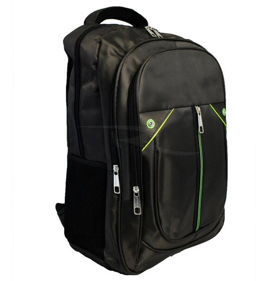 Mochila P/ Notebook Preta Resistente Multi Compartimentos
