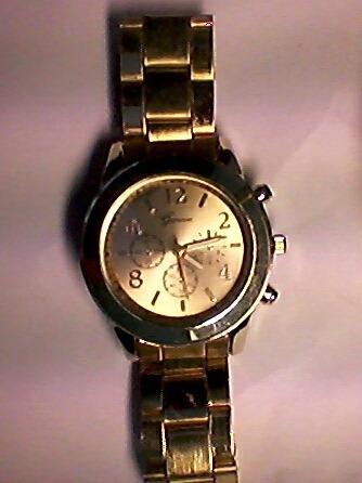 Relógio Feminino Geneva - Dourado. Funcionando