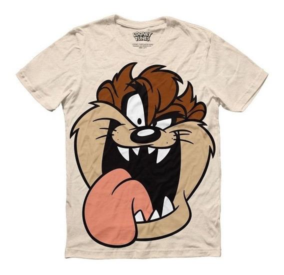 Playera Hombre Taz Looney Tunes Máscara De Látex