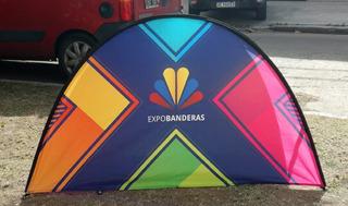 Cartel Plegable Eco, Ideal Negocios Y Deportes. Bandera Piso