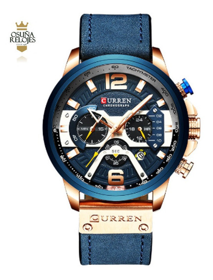 Relógio Masculino Elegante Social Curren 8329 Original