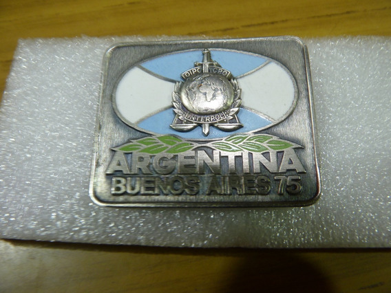 Placa Argentina Buenos Aires-75- Alpaca