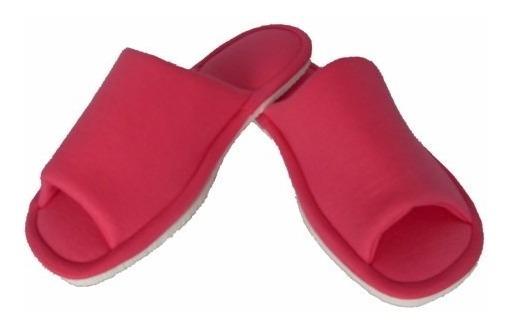 Chinelo De Quarto Feminino Vermelho - Pantufa Tecido