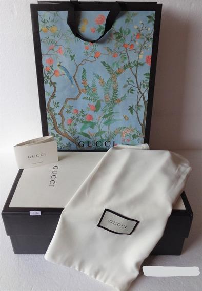 Caja Calzado Gucci 36x20x13 Cm.c/1 Polvera-shoping Bag N128