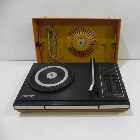 Vitrola Philips 523 Maletinha - Com Defeito P/ Reparo