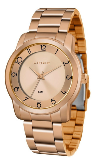 Relogio Lince Feminino Lrr4590l R2rx Rosé Analógico