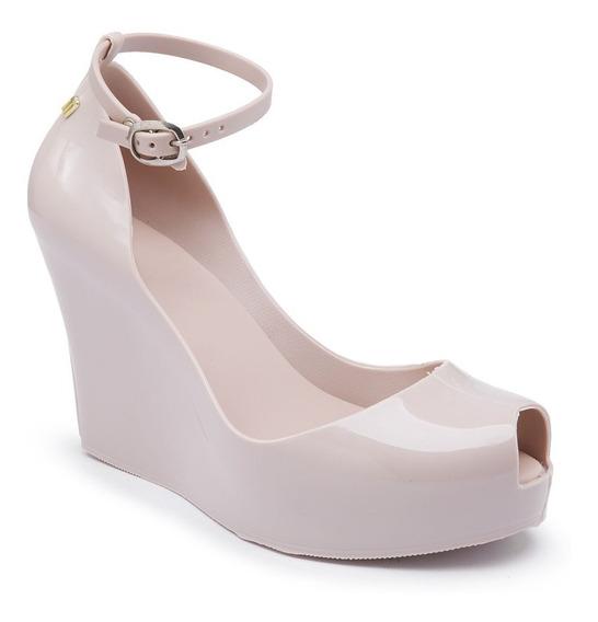 Sandália Salto Plataforma Mel Diane Patchuli Creme