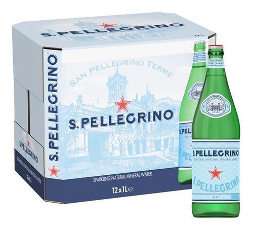 Imagem 1 de 4 de 12x Água Com Gás San Pellegrino 1l