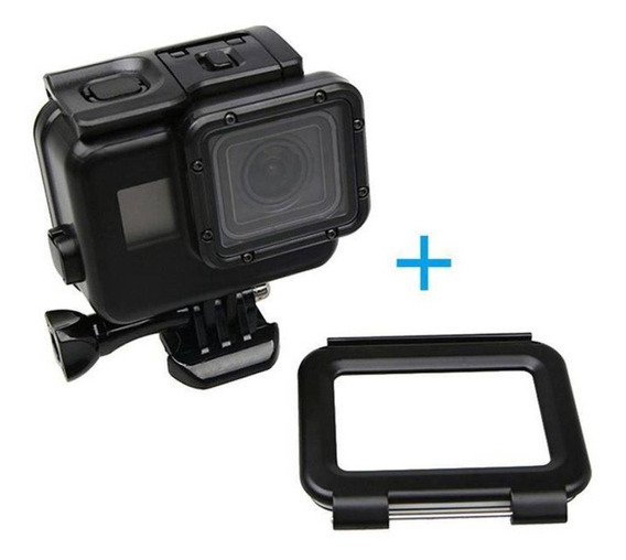 Caixa Estanque Preta Gopro Hero 7 6 5 Tampa Touch Screen