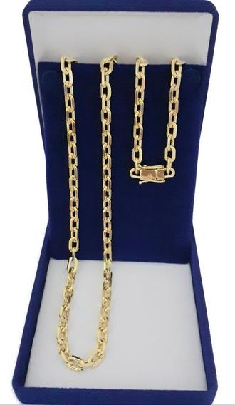 Cordão Cadeado 70cm 6mm Banhado A Ouro 18k Promoção