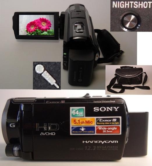 Filmadora Sony Hdr Cx560v Full Entrada Microfone Nightshot