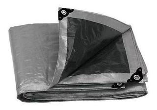 Lona Gris Reforzada Con Ojillos De Aluminio 3m X 5m Truper
