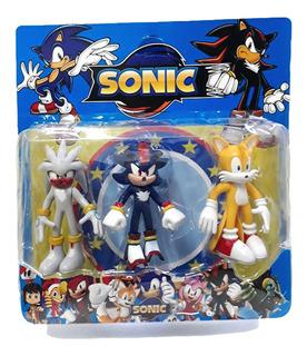 Sonic Muñecos X3 Personajes Articulados 15cm / 2 Modelos