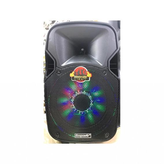 Caixa Som Ecopower Bluetooth E Microfone Sem Fio