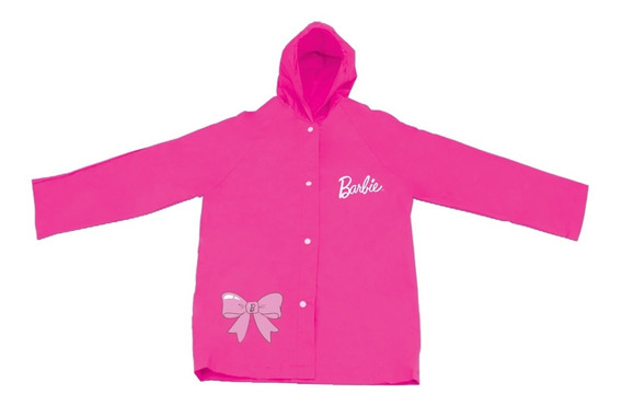 Capa De Chuva Infantil Barbie Produto Original