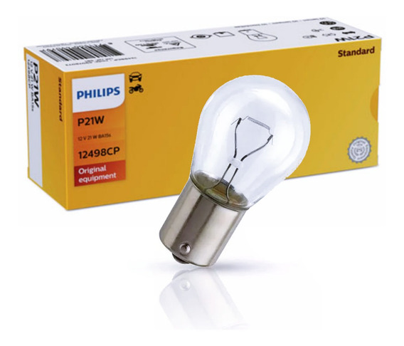 Lampada 1 Polo Philips 12v/21w Original - Caixa C/ 10