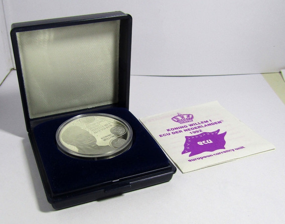 Holanda Moneda 25 Ecu 1992 Plata Duque Koning Willemi Proof